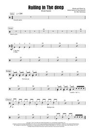 Rolling In The Deep - Drum Score