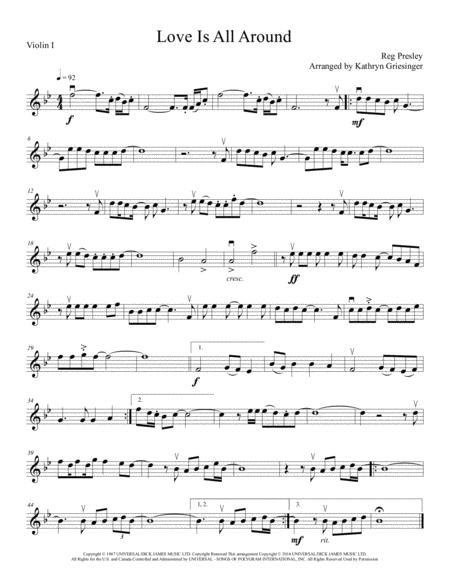Love Is All Around - String Quartet