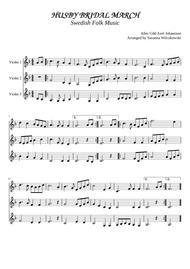 Husby Bridal March (for 3 violins or 2 violins and viola)