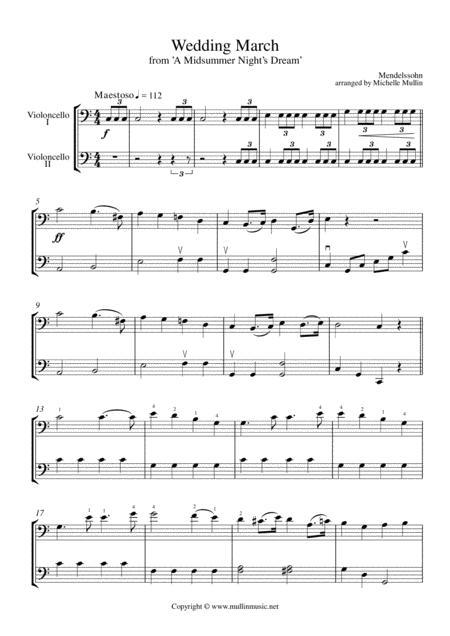 Wedding March (cello duet)
