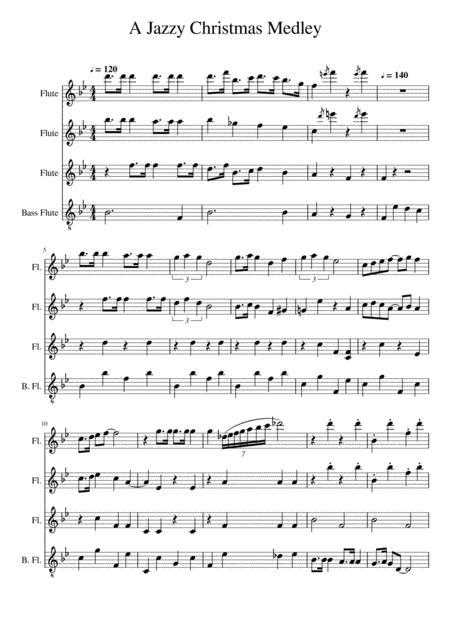 A Jazzy Christmas Medley (flute quartet)