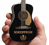 School of Rock Fender(TM) California Malibu Player Acoustic-Electric Jetty Black Mini Guitar