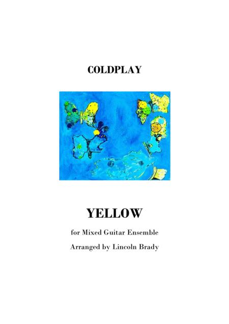 YELLOW by Coldplay - Guitar Ensemble (Score Only)