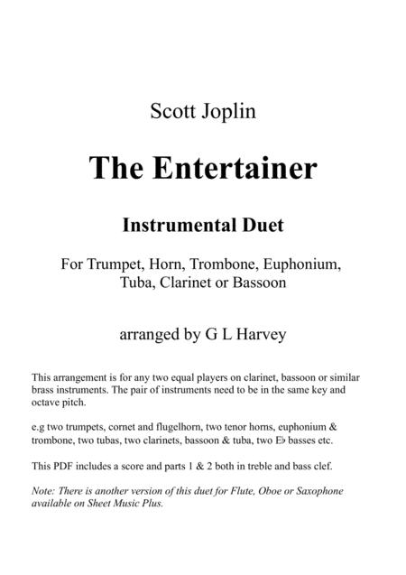 The Entertainer (Brass, Clarinet or Bassoon Duet)