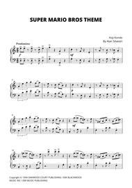 Download Super Mario Bros Theme For Easy Piano Sheet Music - Sheet