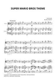 Super Mario Bros Theme for Viola and Piano