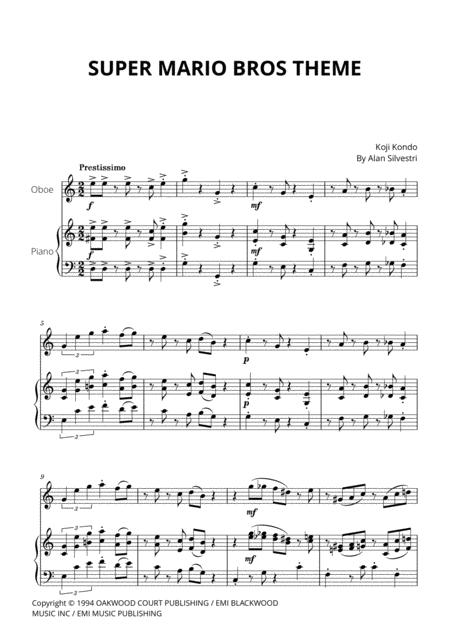 Download Super Mario Bros Theme For Oboe And Piano Sheet