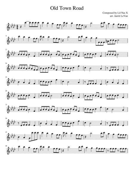 Old Town Road - Alto Saxophone Solo