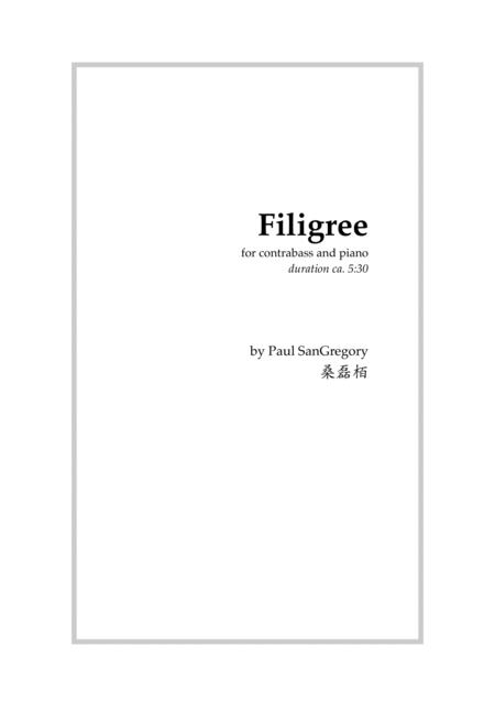 Filigree, for contrabass and piano