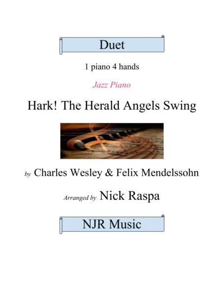 Hark! The Herald Angels Swing - 1 piano 4 hands (advanced intermediate)