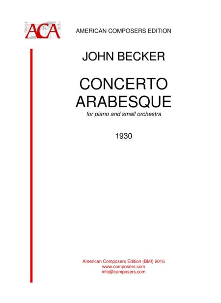 [Becker] Concerto Arabesque