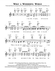 What A Wonderful World - Vocal Solo/Duet/Trio with Ukulele Chords