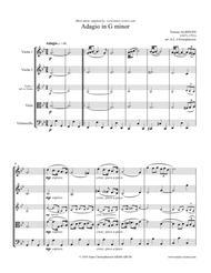 Albinoni Adagio - 2 Violins, Viola and Cello