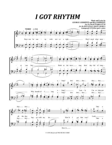 I Got Rhythm (M) (chorus pricing)