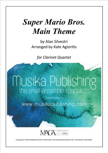 Super Mario Bros. - Main Title - Clarinet Quartet
