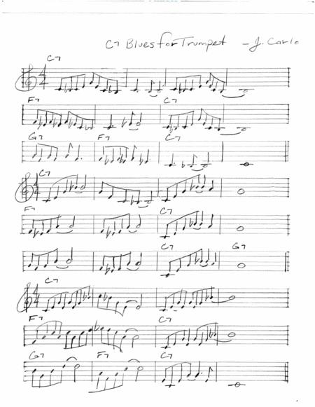 Download John Carlo's Blues For Trumpet Sheet Music By John