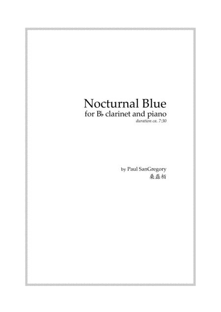 Nocturnal Blue, for clarinet and piano