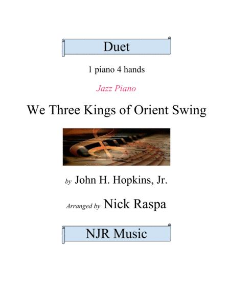 We Three Kings of Orient Swing (1 piano 4 hands) early intermediate