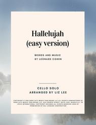 Hallelujah (easy) Cello Solo