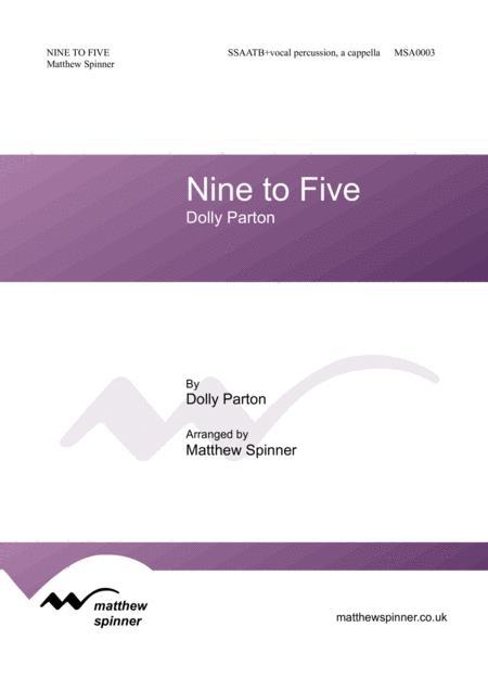 Nine To Five (Dolly Parton) SATB a cappella