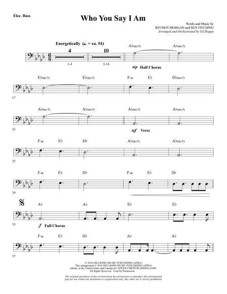 Who You Say I Am (arr. Ed Hogan) - Bass