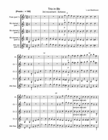 Trio - 3rd movement (Scherzo)