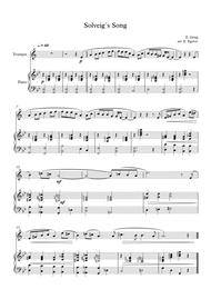 Solveig`s Song, Edvard Grieg, For Trumpet & Piano
