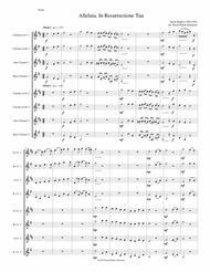 Alleluia In Resurrectione Tua arranged for clarinet octet or clarinet choir (E flats, B flats, Altos and Basses)
