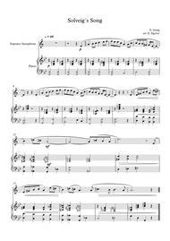 Solveig`s Song, Edvard Grieg, For Soprano Saxophone & Piano