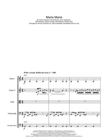 Maria Maria for String Orchestra - Score and Parts