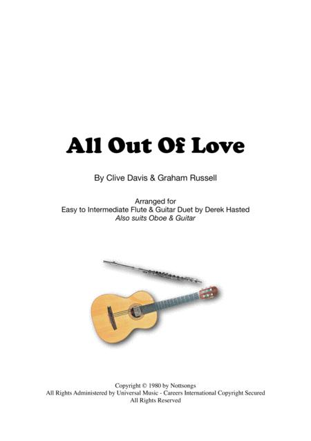 All Out Of Love - duet for Flute (or other Melody Instrument) & Guitar