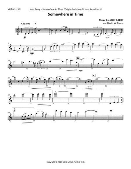 Somewhere In Time - Theme - String Quartet