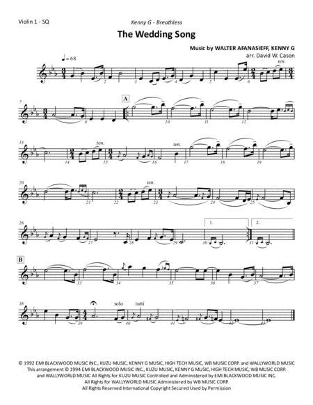 The Wedding Song - String Quartet