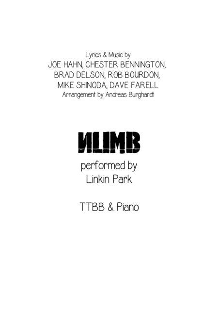 Numb (for Choir TTBB & Piano)