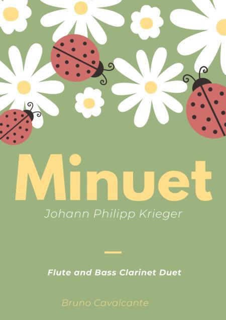 Minuet in A minor - Johann Philipp Krieger - Flute and Bass Clarinet Duet