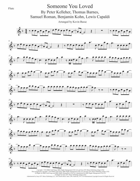 Someone You Loved Flute By Digital Sheet Music For Individual Part Sheet Music Single Solo Part Download Print H0 589873 Sc003725414 Sheet Music Plus