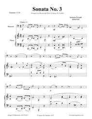 Vivaldi: Sonata No. 3 for Bassoon & Piano