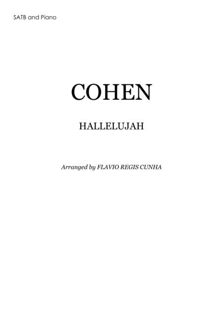 Hallelujah  (for Choir SATB and Piano Accompaniment)