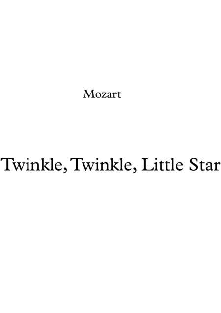 Twinkle, Twinkle, Little Star for Harp.