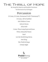 The Thrill of Hope (A New Service of Lessons and Carols) - Percussion