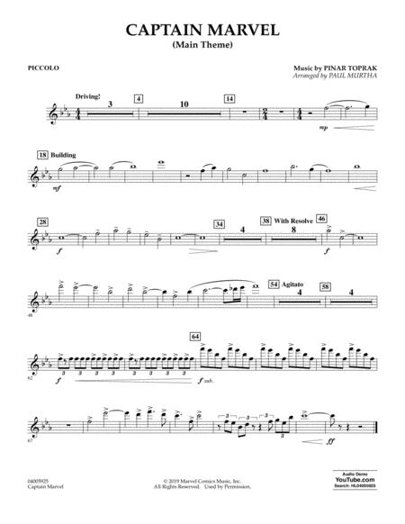 Captain Marvel (Main Theme) (arr. Paul Murtha) - Piccolo
