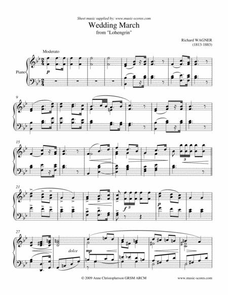 Wedding March from Lohengrin - Piano