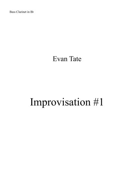 Improvisation #1 for Bass Clarinet