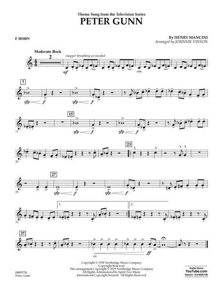 Peter Gunn (arr. Johnnie Vinson) - F Horn