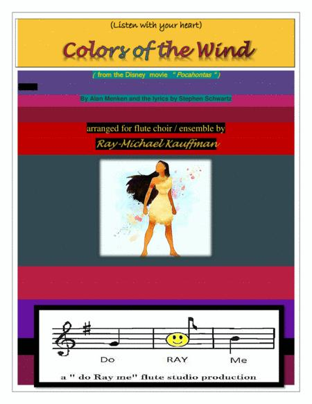(listen to your heart) Colors of the Wind for flute choir / ensemble