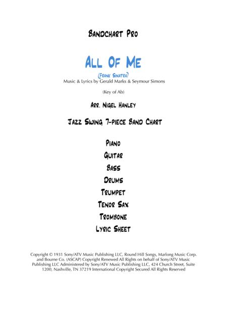 All Of Me Ab 7pc jazz swing chart