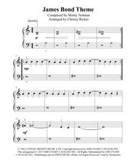 James Bond Theme - beginner/big note piano