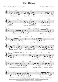 Tiny Dancer - leadsheet for singalongs