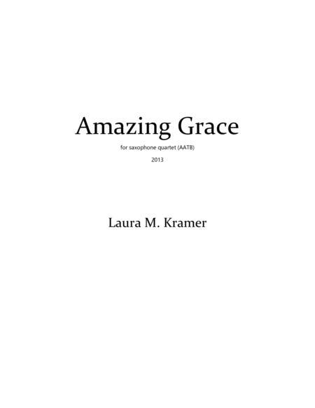 Amazing Grace for saxophone quartet