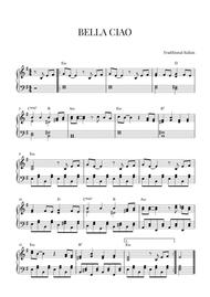 BELLA CIAO for Intermediate Piano